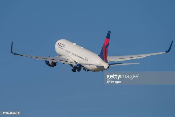 Airplane on March 16, 2020 in Stuttgart, Germany.