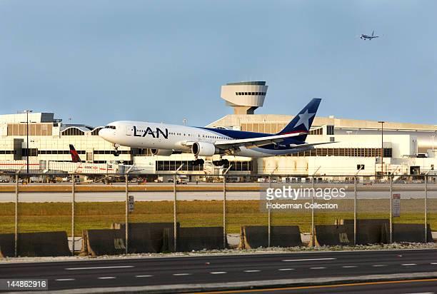 Airplane on Runway Miami International Airport