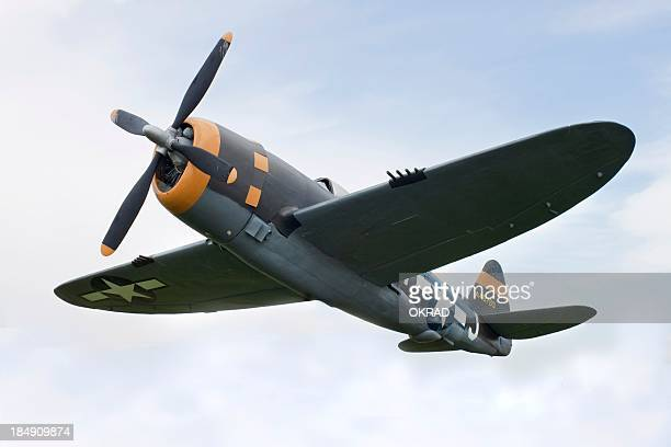 airplane p-47 thunderbolt from world war ii - military airplane stock pictures, royalty-free photos & images