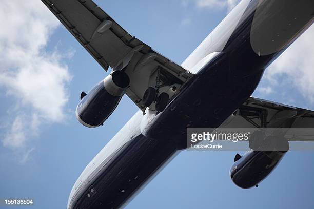 airplane - landing gear stock photos and pictures