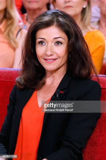 Airplane pilot paraplegic Dorine Bourneton presents her book 'Au dessus des nuages' during the 'Vivement Dimanche' French TV Held at Pavillon Gabriel...