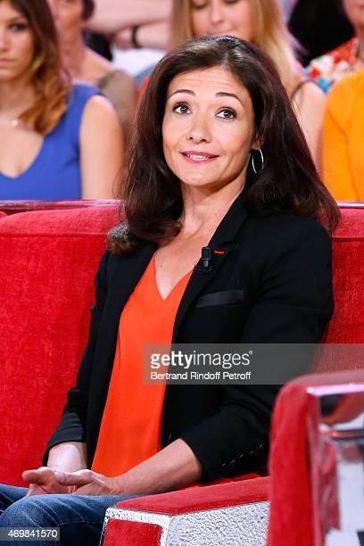 Airplane pilot paraplegic Dorine Bourneton presents her book Au dessus des nuages during the 'Vivement Dimanche' French TV Held at Pavillon Gabriel...
