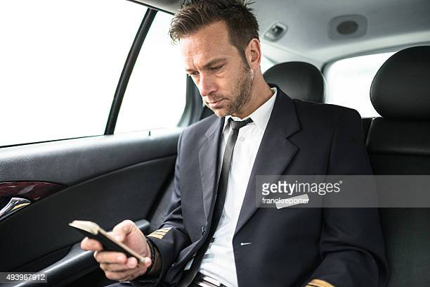 Airplane pilot text messaging in the taxi