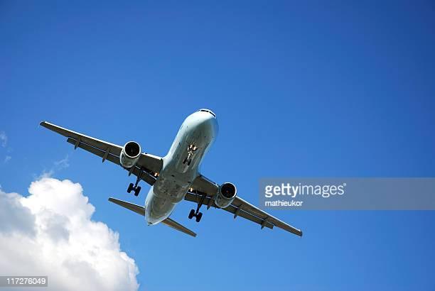 Airplane preparing for landing