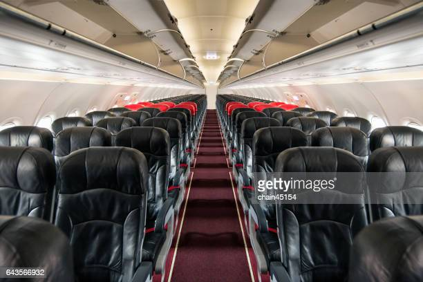 Airplane seat for business travel transportation.