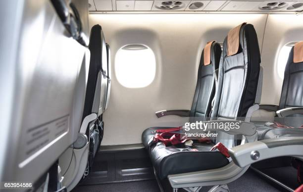 airplane seat in the airplane