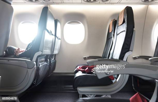 airplane seat in the airplane - seat stock pictures, royalty-free photos & images