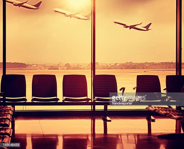 Avion décollage Exposition multiple