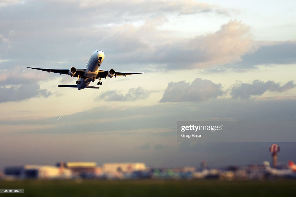Airplane take off : Stock Photo