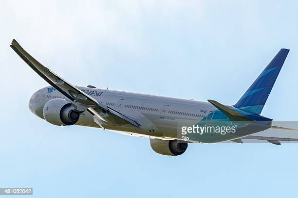 Airplane taking off from Schiphol Airport in Holland