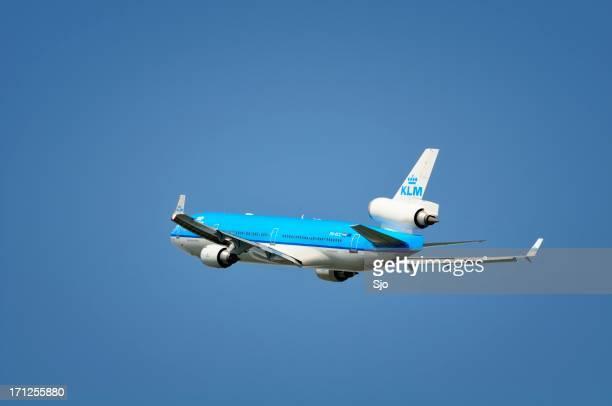 """a klm avião decolando - """"sjoerd van der wal"""" or """"sjo"""" - fotografias e filmes do acervo"""