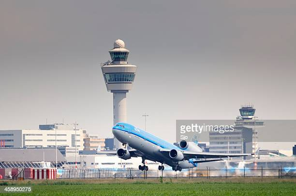KLM airplane taking off