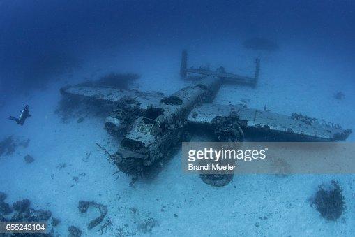 B-25 WWII Airplane Underwater