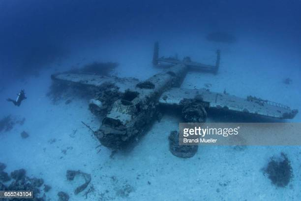 B-25 WWII Airplane Underwater