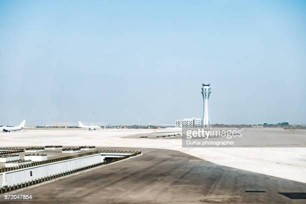 Airplane waiting at gate