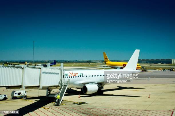Avion attente d'embarquement