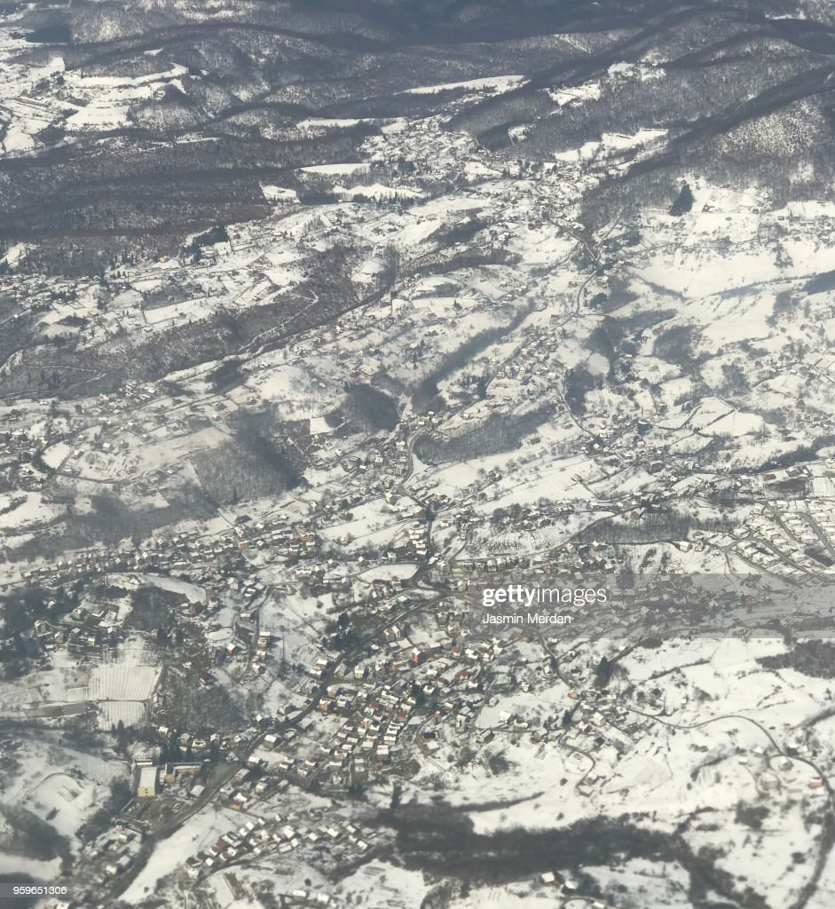 Airplane window view : Stock-Foto
