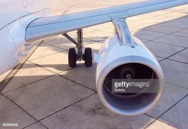 Airplane wing and engine.