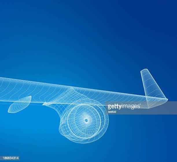 飛行機 Wireframe