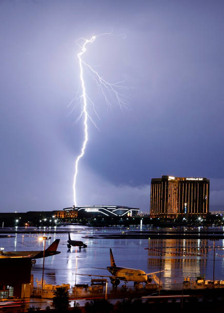 NV: Thunderstorm Rolls Through Las Vegas
