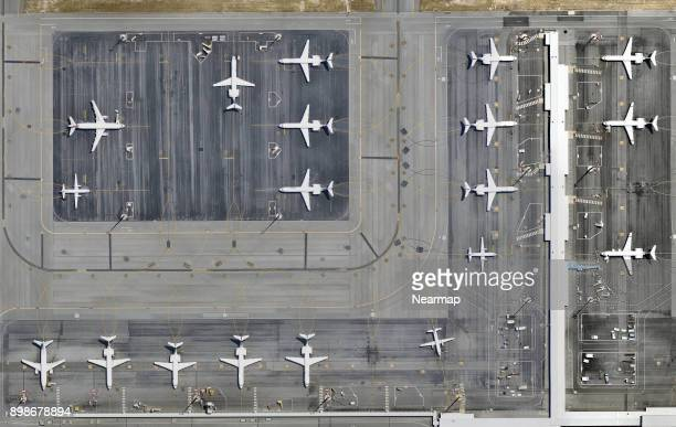 Airplanes parked at airport
