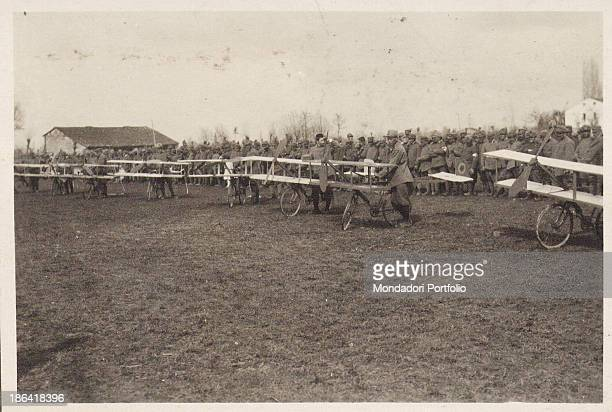 ARMY Airplanes races during the ceremony for Pisa Brigade 1918 Gelatine process Rome Central Museum of the Risorgimento