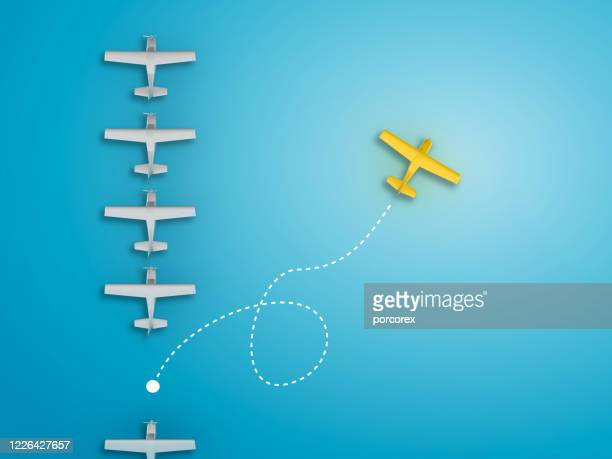 airplanes teamwork concept - 3d rendering - competition stock pictures, royalty-free photos & images