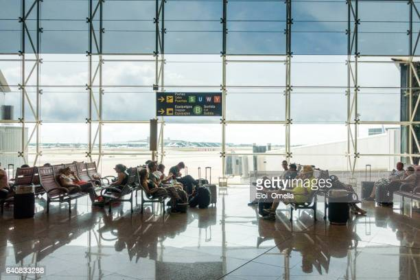 Airport aeroport del prat barcelona spain passengers
