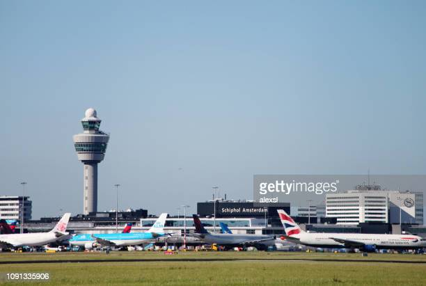 airport amsterdam schiphol, netherlands - schiphol airport stock photos and pictures