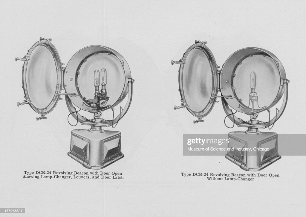 Airport And Airway Lighting Equipment - Black and white images of a Type DCB-24 & Type DCB-24 Revolving Beacon From The u0027Airport And Airway Lighting ... azcodes.com
