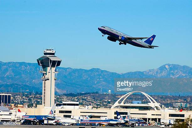 LAX Airport and Plane taking off