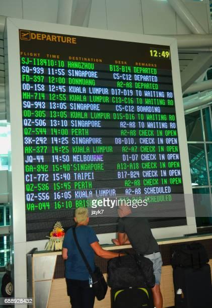 Airport arrival departure board