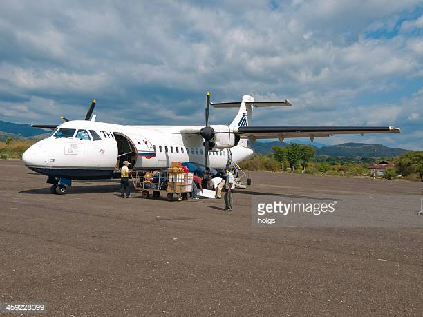 airport at flores, indonesia - rinca island stock pictures, royalty-free photos & images