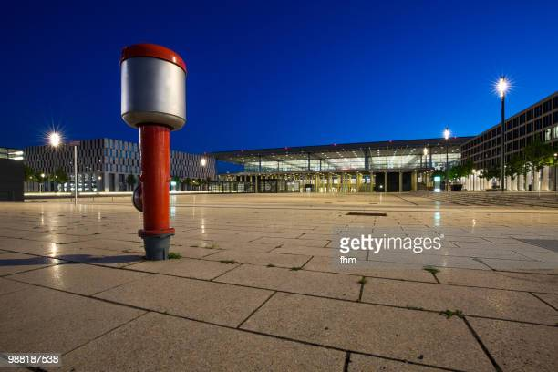 Airport Berlin-Brandenburg Terminal with fire hydrant (Schönefeld, Germany)