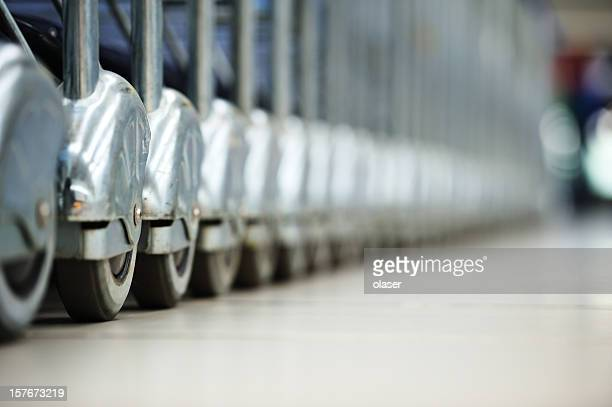 Airport cart close up