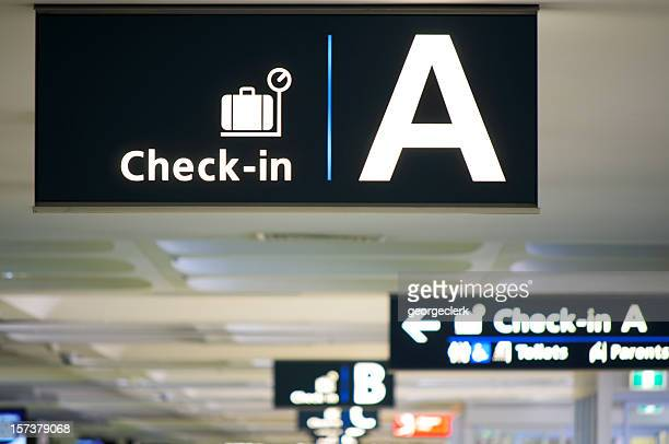 Airport Check-in Area