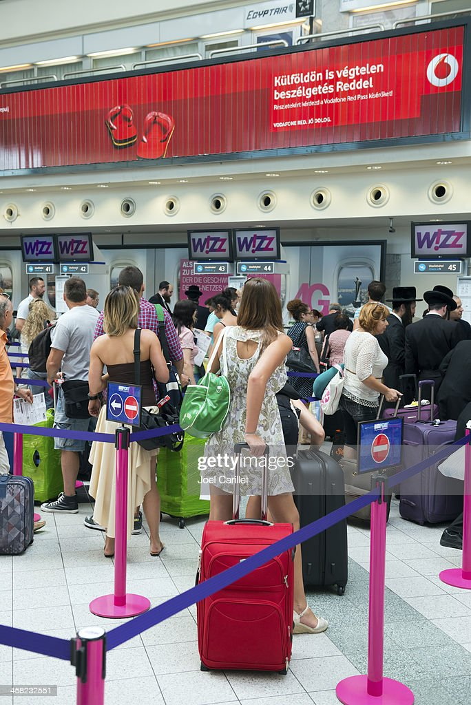 Airport Checkin For Wizz Air Flight In Budapest High Res Stock Photo Getty Images