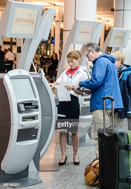 Airport Check-in Kiosk Attendant