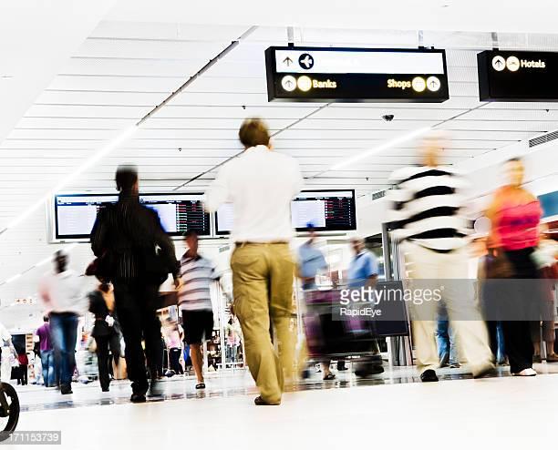 Airport concourse mayhem