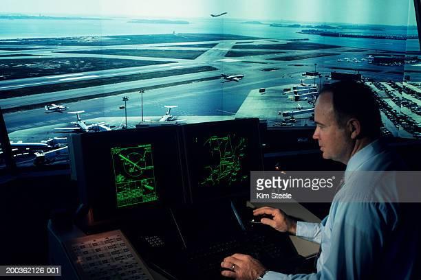 Airport control tower simulating Boston's Logan new control terminals