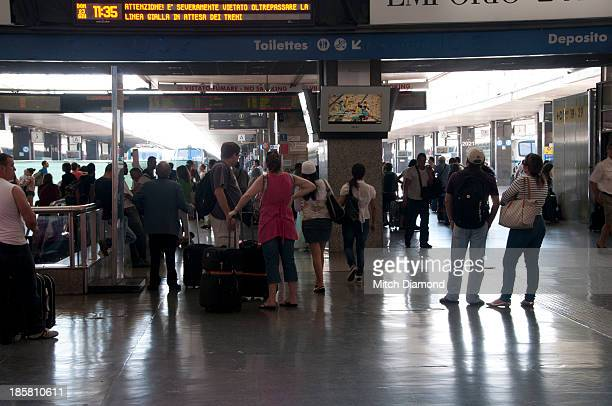 Airport crowds in terminal