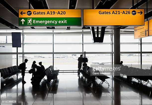 airport departure lounge - airport stock pictures, royalty-free photos & images