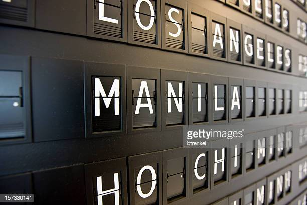airport - departure - manila philippines stock photos and pictures