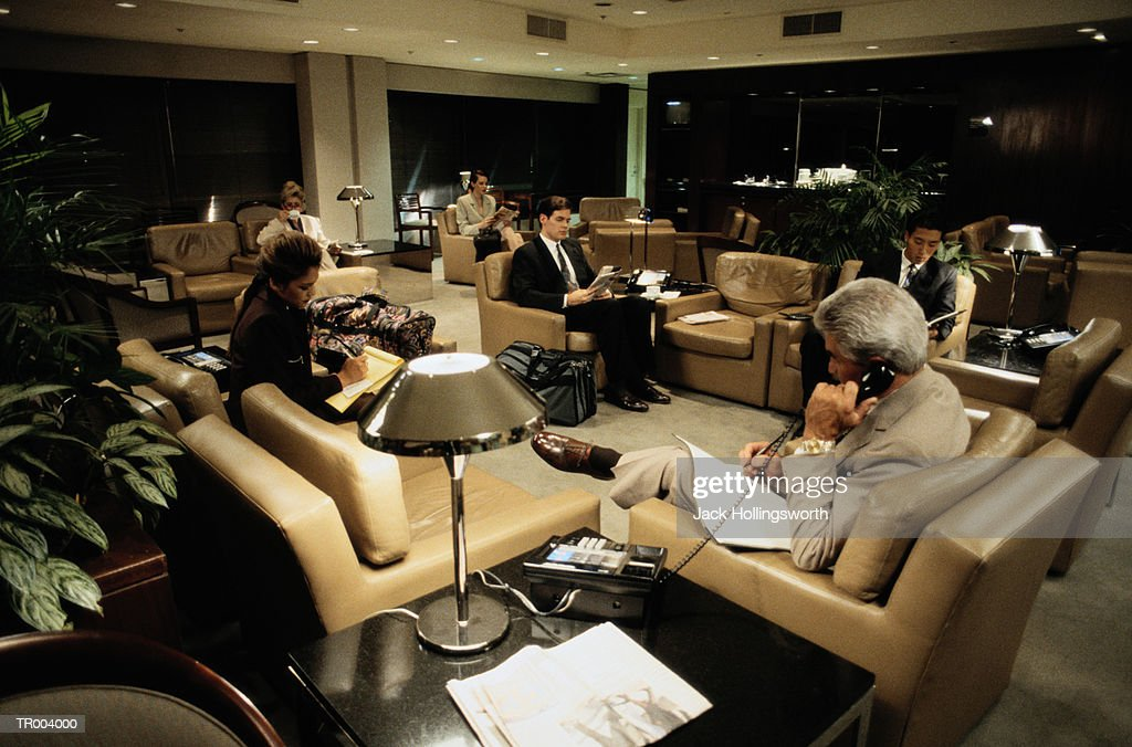 Airport Executive Lounge : Stock Photo