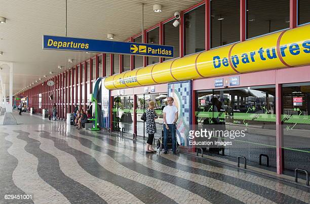 Airport exterior of departures building at Faro Portugal Europe
