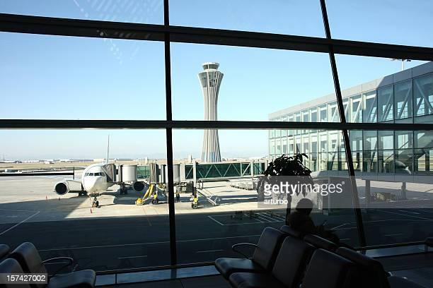 Flughafen gate Shanghai