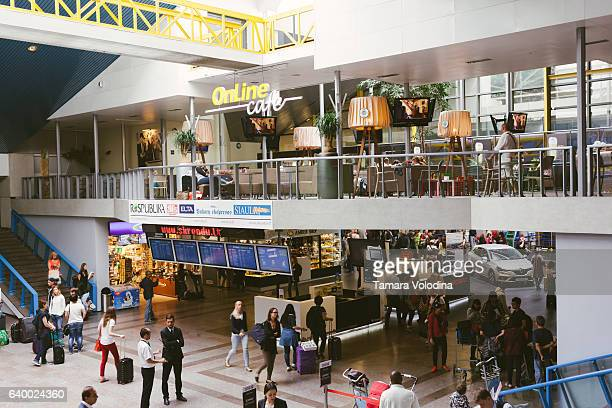 airport in vilnius, lithuania - vilnius stock pictures, royalty-free photos & images