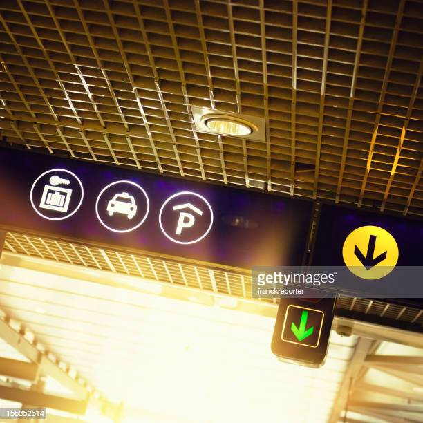 Airport information and exit signs