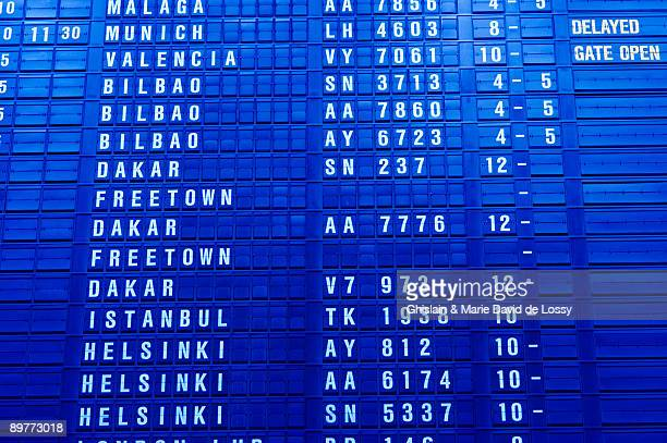 airport information board - zaventem airport stock pictures, royalty-free photos & images