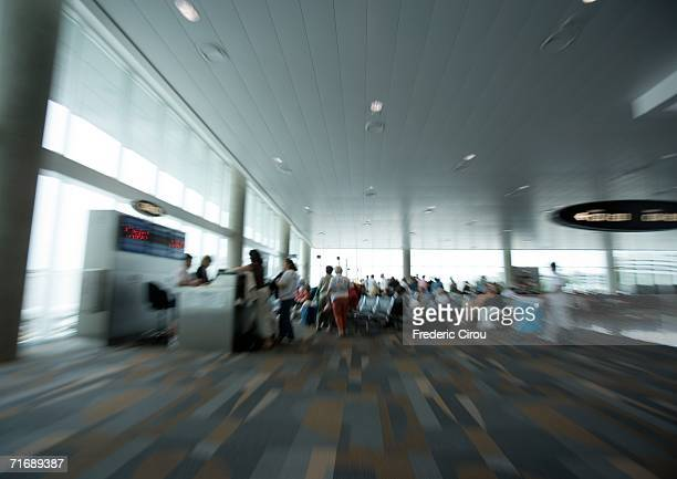 Airport interior, defocused